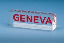 blok z logo Geneva